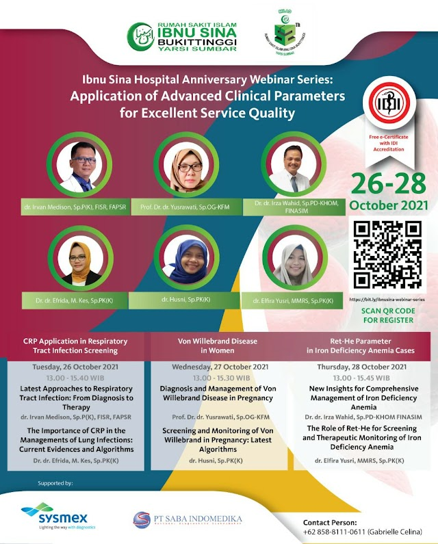 (Webinar ber SKP IDI Gratis) Application of Advanced Clinical Parameters for Excellent Service Quality