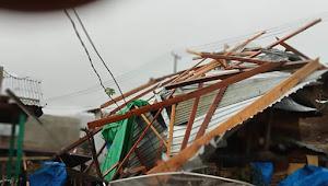 Kecamatan Lantung di Guyur Hujan Lebat dan Angin Kencang , Yosy Larian Berharap Kepada Pemerintah Agar Cepat Tanggap