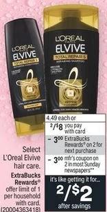 FREE L'Oreal Shampoo CVS Deal 10/17-10/23