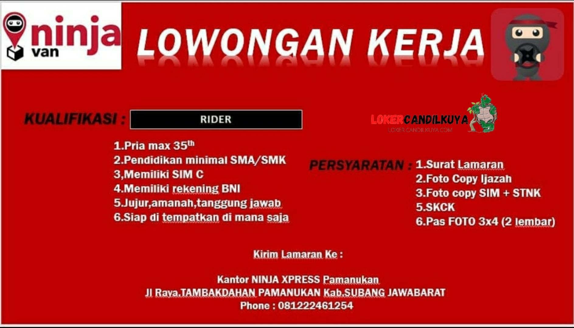 Lowongan Kerja Ninja Express Subang