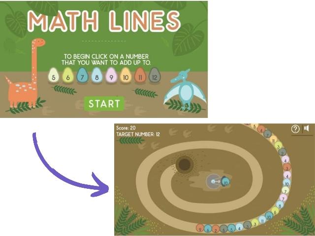 games math line
