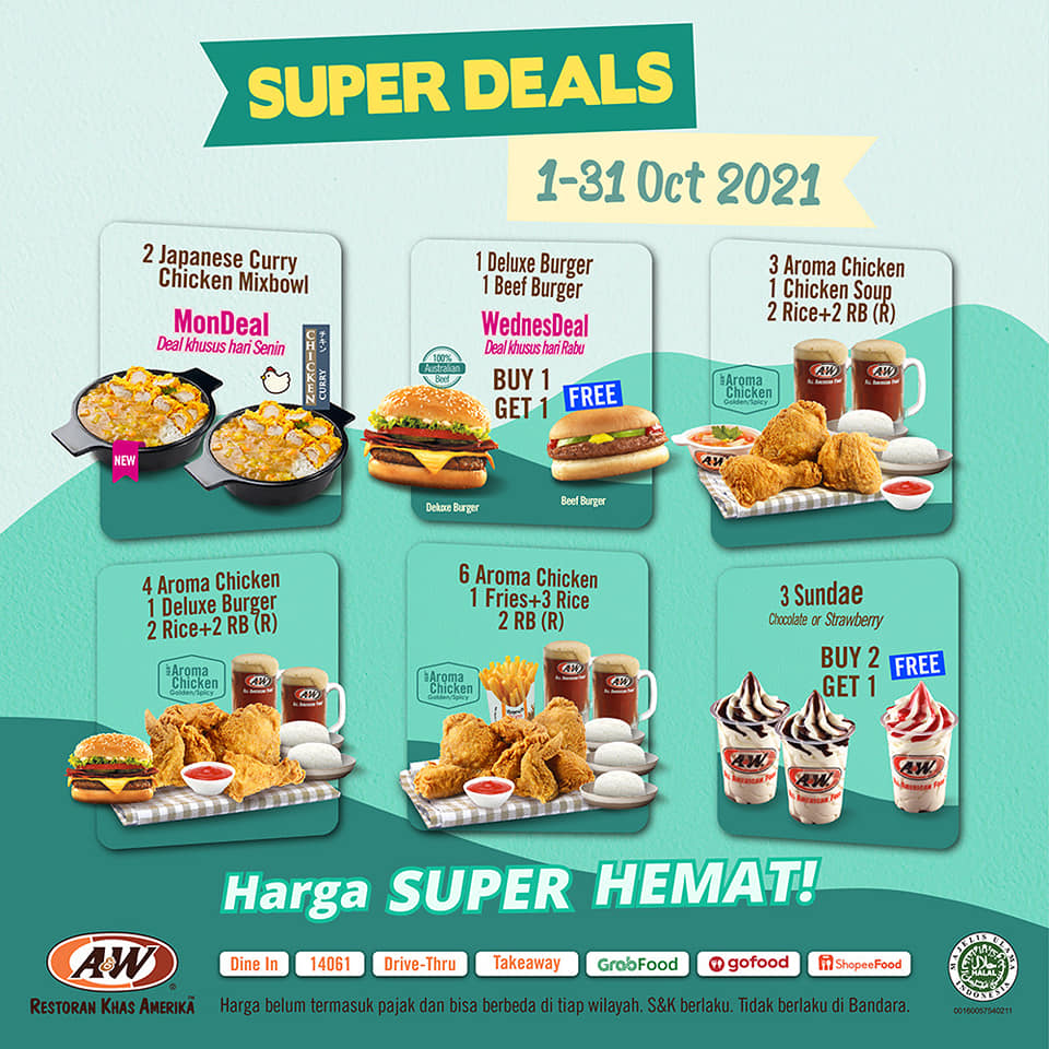 Promo AW Restoran Super Deal 1 - 31 Oktober 2021
