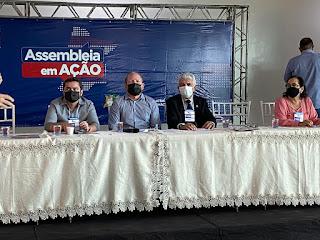 """Presidente da Câmara de Vereadores de Santa Inês, Josino Catarino, participa do """"Assembléia em Ação"""" em Santa Inês."""