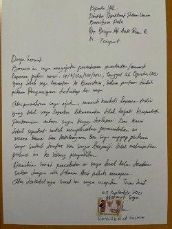 Beredar Surat M Kece Minta Cabut Laporan Polisi Terhadap Irjen Napoleon Bonaparte, Begini Isinya