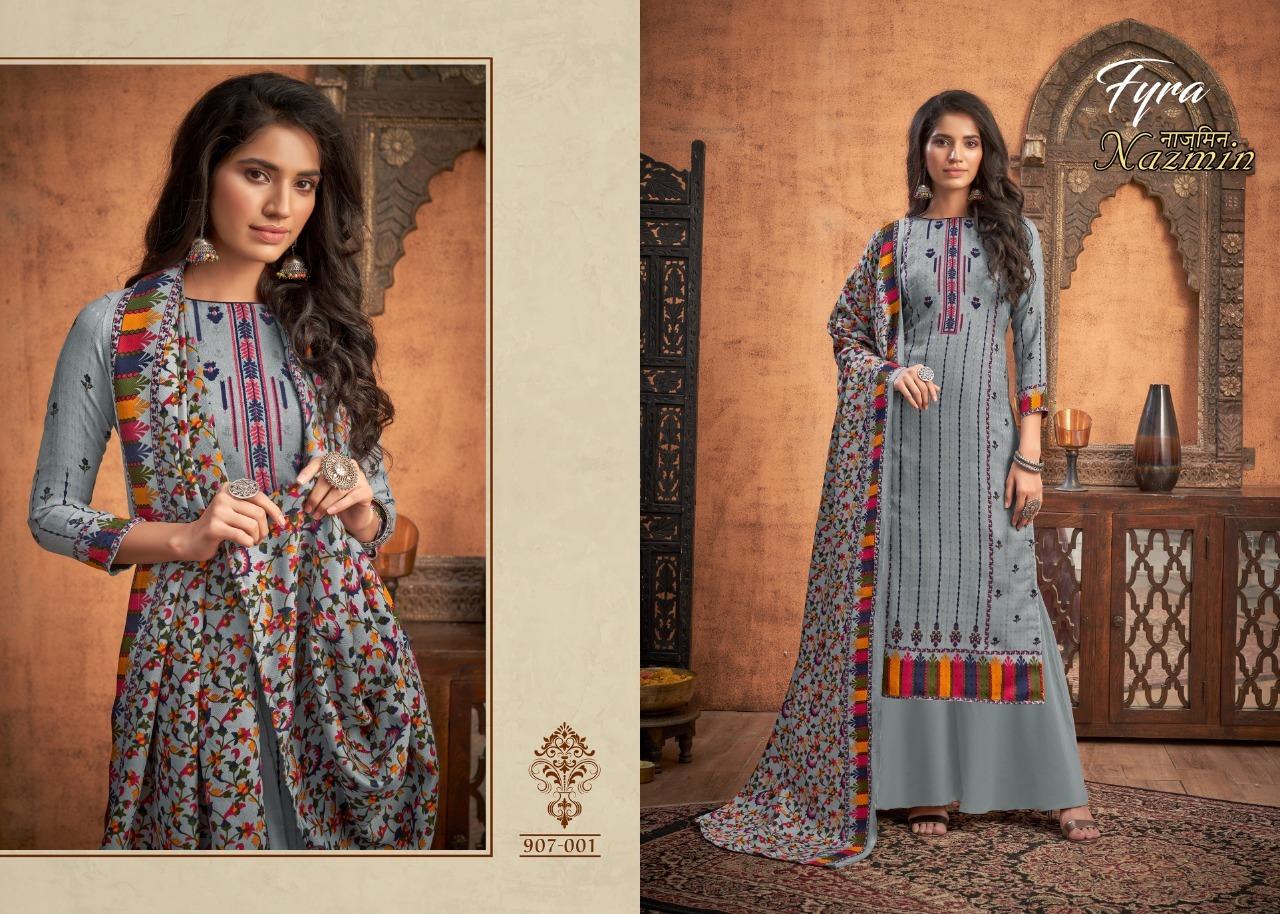 Fyra Nazmin Pashmina Suits Catalog Lowest Price