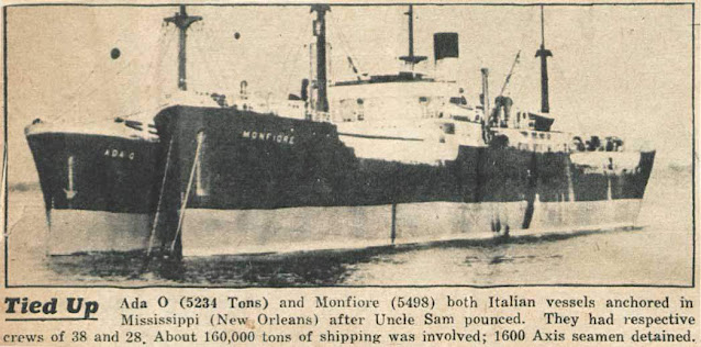 Freighter Hermis in the background, sunk on 6 June 1942 worldwartwo.filminspector.com