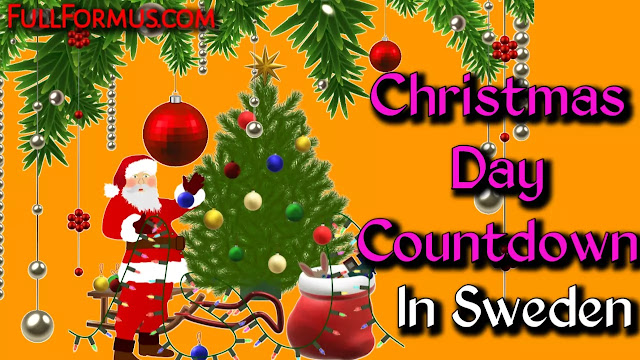 Christmas Day in Sweden Countdown 2021