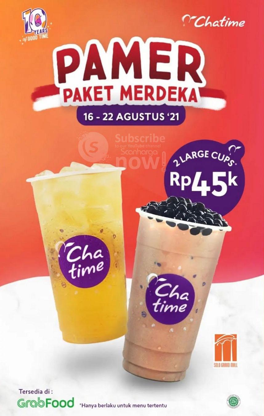 Chatime Promo Paket Merdeka Grabfood - 2 Chatime hanya Rp. 45.000
