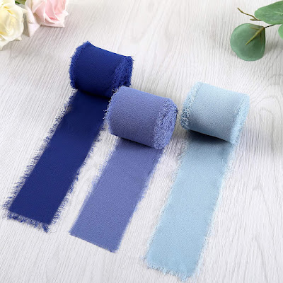 Blue Chiffon Ribbons