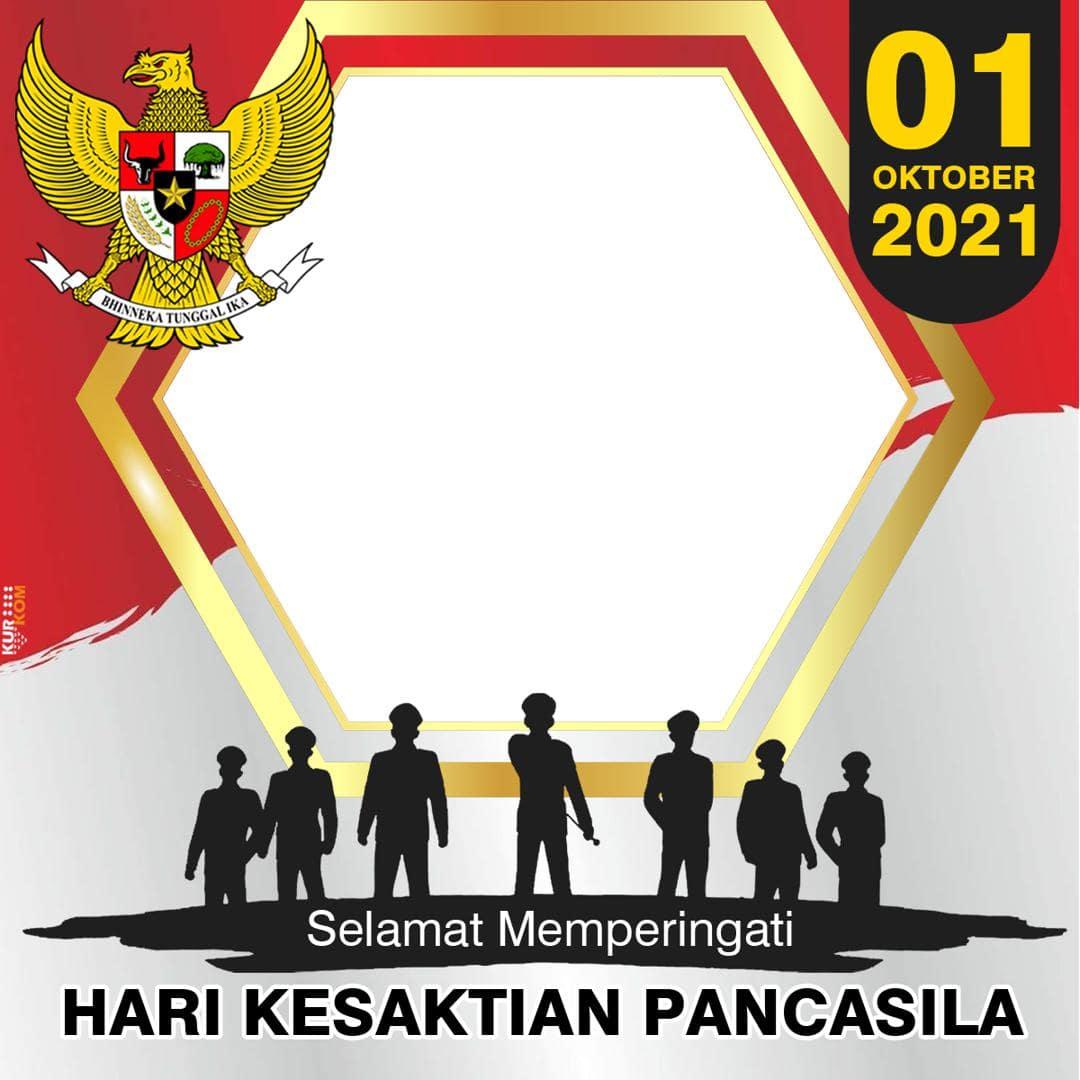 Template Frame Bingkai Twibbon Ucapan Hari Kesaktian Pancasila 1 Oktober 2021