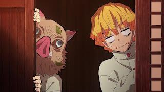 鬼滅の刃アニメ 25話 我妻善逸 嘴平伊之助 かわいい   Demon Slayer Episode 25