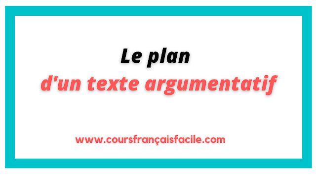 Le plan d'un texte argumentatif