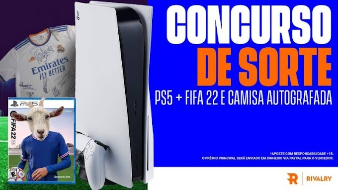 Sorteio PlayStation 5 + FIFA 22 e Camisa autografada