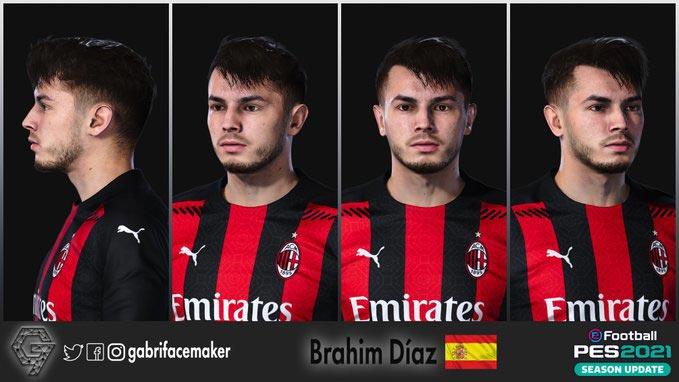 Faces Brahim Díaz For eFootball PES 2021