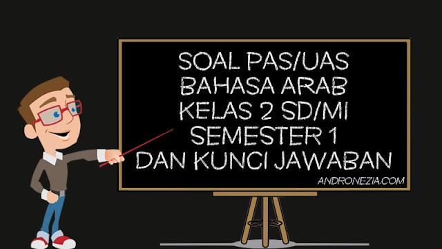 Soal PAS/UAS Bahasa Arab Kelas 2 SD/MI Semester 1 Tahun 2021