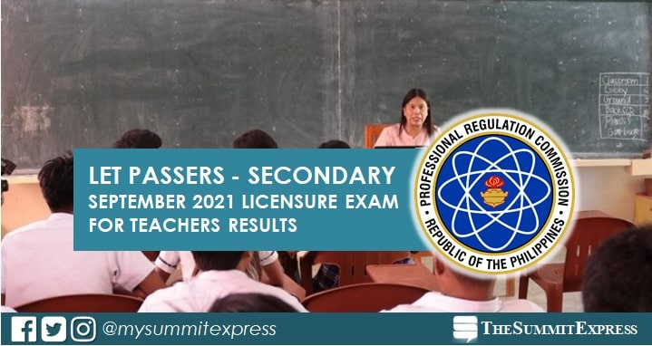 September 2021 LET Result Secondary level list of passers