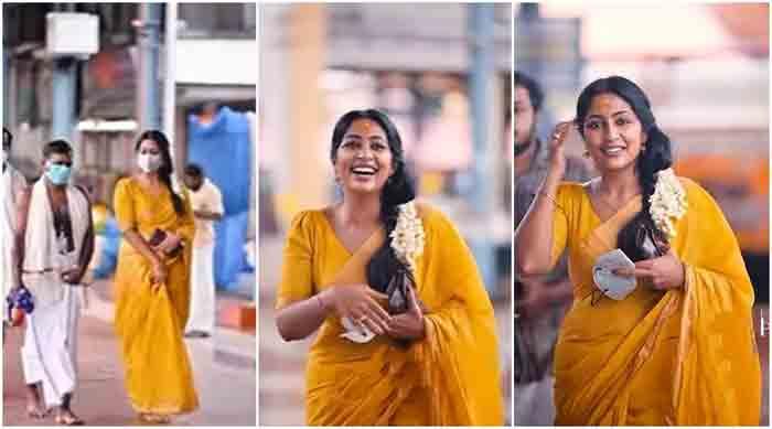 Navya Nair celebrates her birthday at Guruvayoor Temple, Guruvayoor Temple, News, Actress, Birthday Celebration, Video, Kerala, Cinema