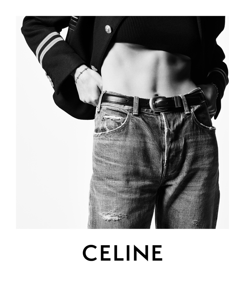 Celine Margaret Jeans featured in the brand's winter 2021 campaign.