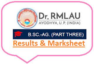 Avadh University B.Sc Agri Part 3 Result 2021