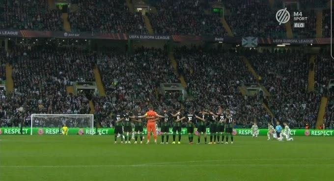 Celtic-Fradi: Térdeltek a hazai játékosok - Videó