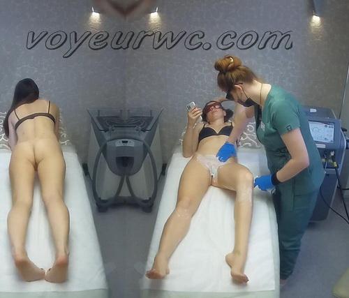 Hidden cam in the beauty shop (Intimate Waxing RU 64-67)