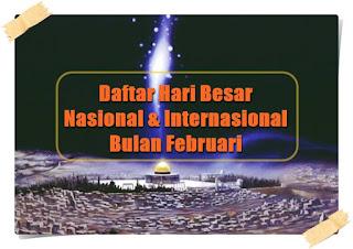daftar hari besar nasional internasional februari - kanalmu