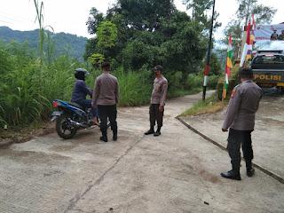 Tegakkan Protokol Kesehatan, Personel Polsek Malua Polres Enrekang Laksanakan Operasi Yustisi