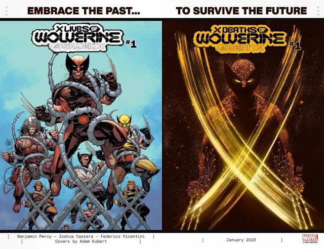 Marvel muestra por primera vez 'X Deaths of Wolverine' y 'X Lives of Wolverine'.