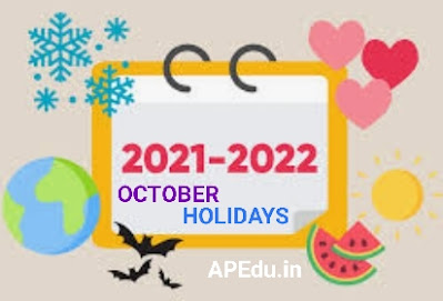 Holidays for schools in the month of October.