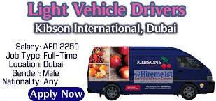 Kibsons International LLC Recruitment Light Vehicle Drivers and Order Pickers in Dubai | Walk In Interview