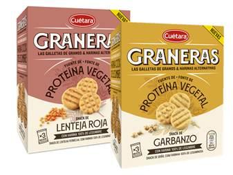 Cuétara apresenta as novas bolachas Graneras com farinha 100% de leguminosas
