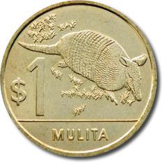 Monedas uruguayas para imprimir 1 peso
