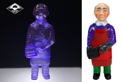 Sofubi-man September Painted Edition & Clear Purple Edition Vinyl Figures by Mark Nagata x Max Toy Co