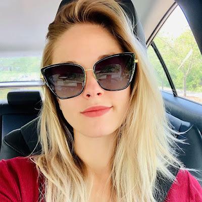 Trendy Oversized Cat Eye Sunglasses For Women
