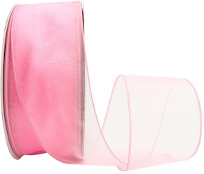 Sheer Organza Wired Ribbon For Home Decorations and Crafts