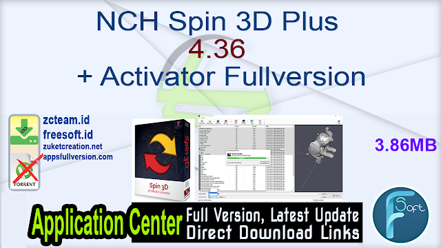 NCH Spin 3D Plus 4.36 + Activator Fullversion