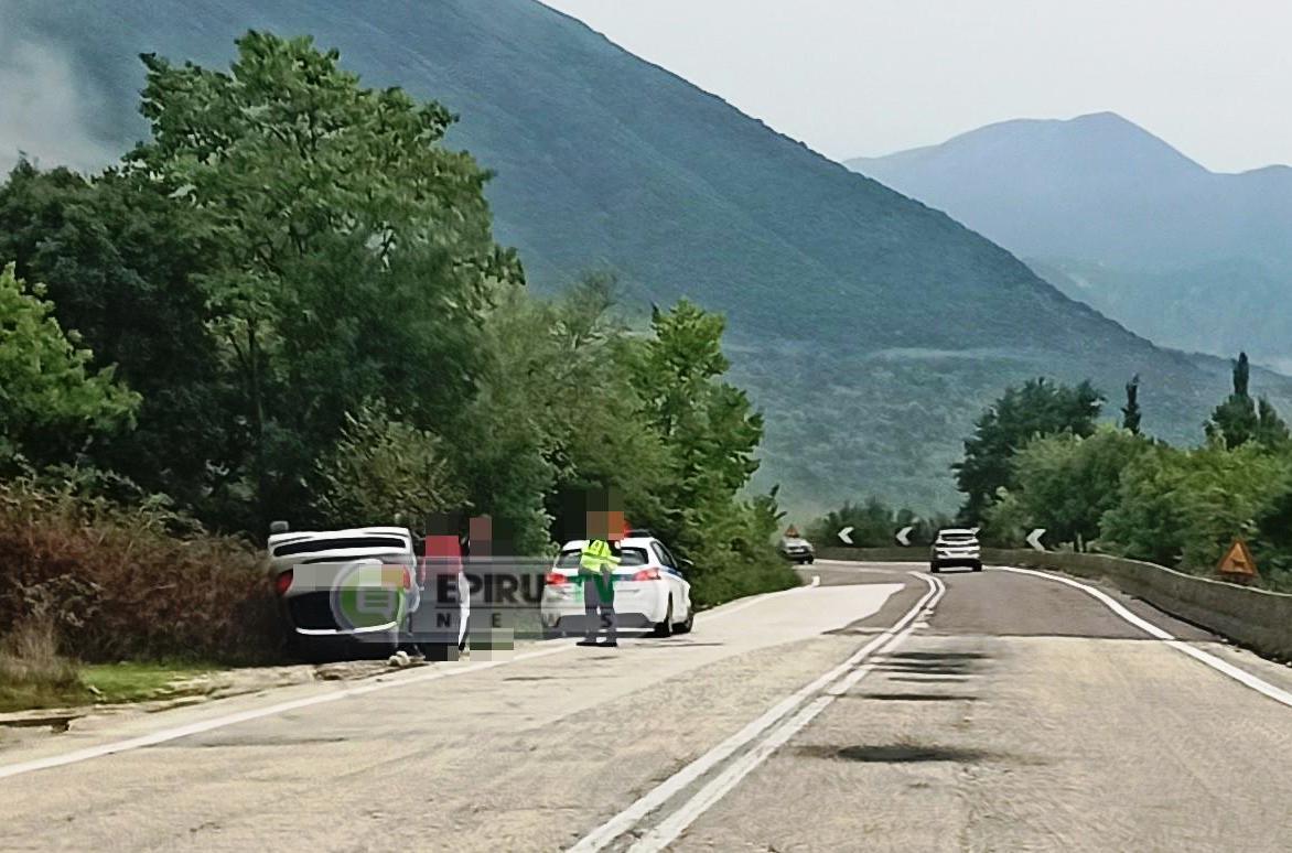 Ιωάννινα:Έχασε τον έλεγχο του οχήματός του και ανετράπη στην Κανέτα [φωτό]