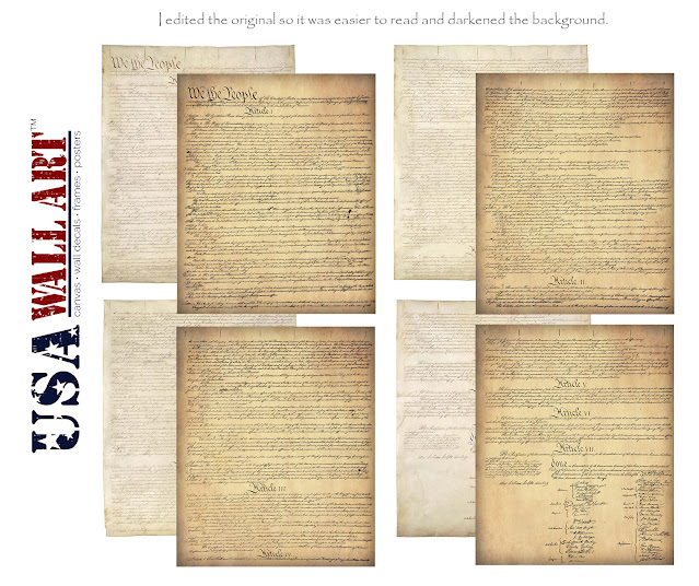 US Constitution Posters (4 pages)