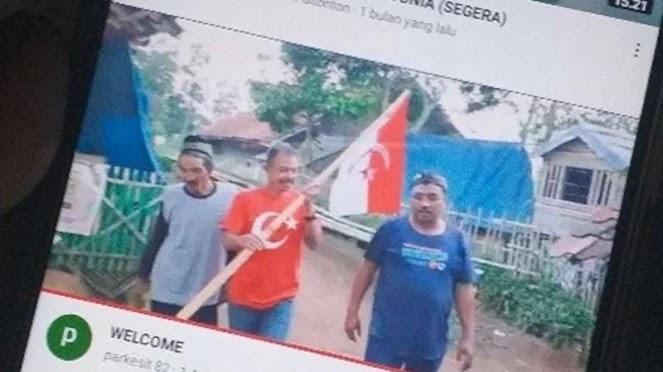 Heboh Beredar Video Tiga Pria Bawa Bendera NII