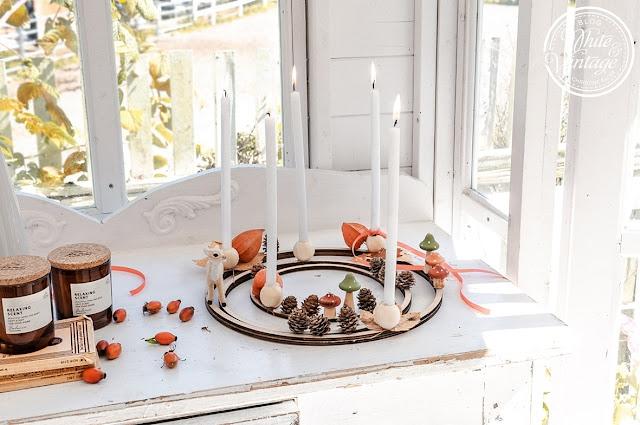 DIY-Herbstkranz aus Holzreifen basteln