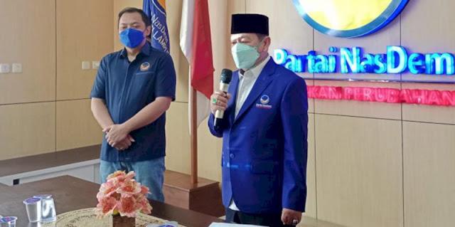 Resmi Pimpin Nasdem Lampung, Herman HN Mengaku Tak Banyak Diberi Kesempatan oleh PDIP