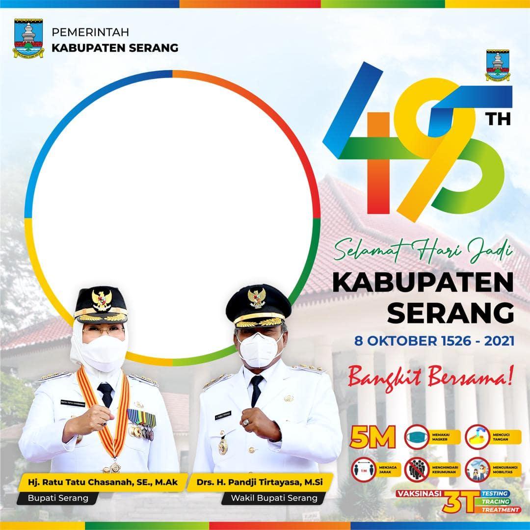 Link Bingkai Foto Twibbon Selamat Hari Jadi Kabupaten Serang 2021, HUT ke-495