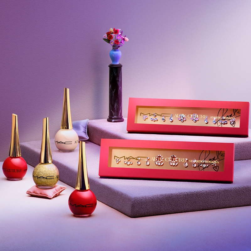 MAC Cosmetics Aute Cuture collection featuring nail lacquer and nail art.