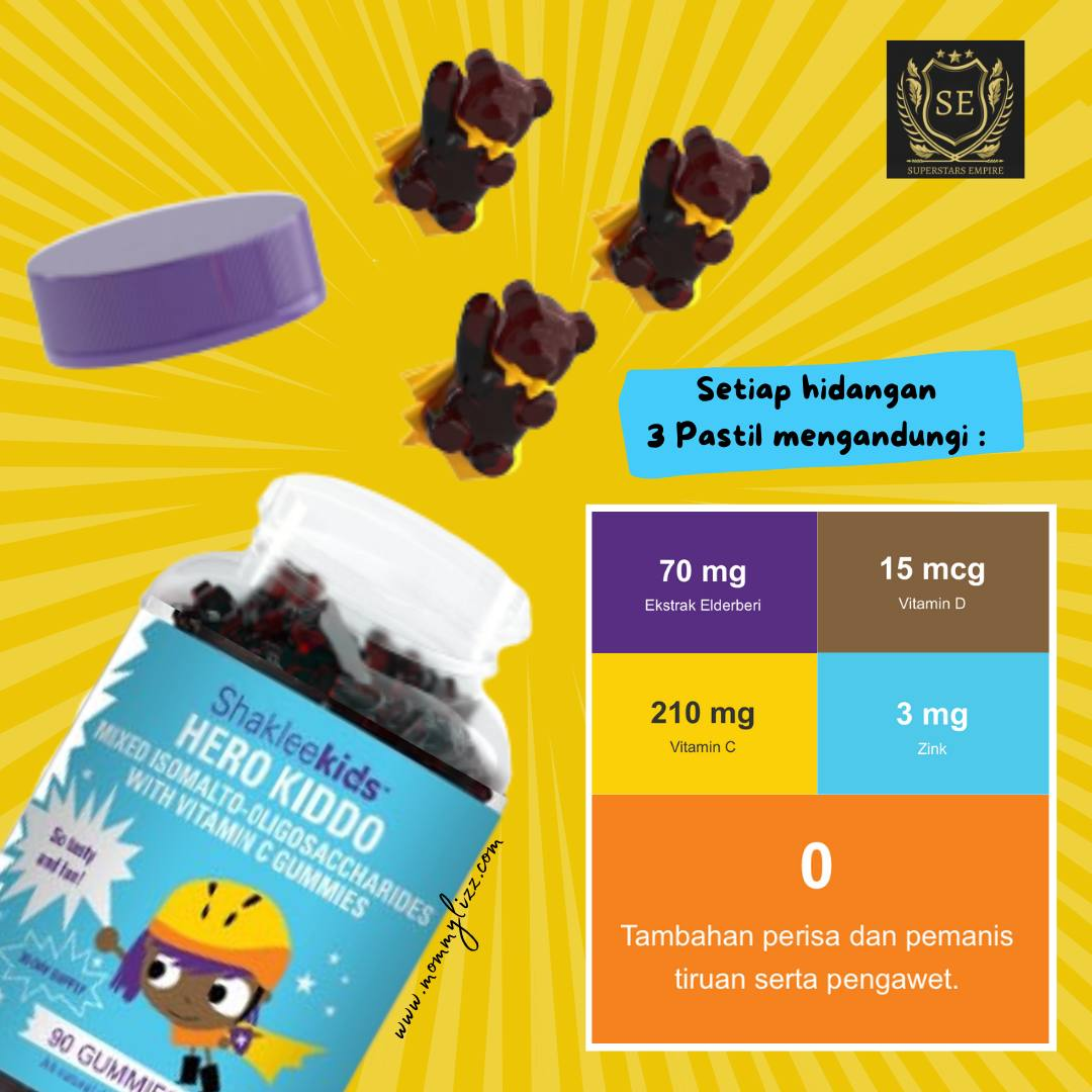 Hero Kiddo Shaklee Vitamin untuk Imunisasi Badan Kanak-kanak