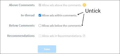 Ads tab