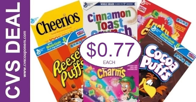 Never Pay Full Price for Cereal at CVS 8-22-8-28