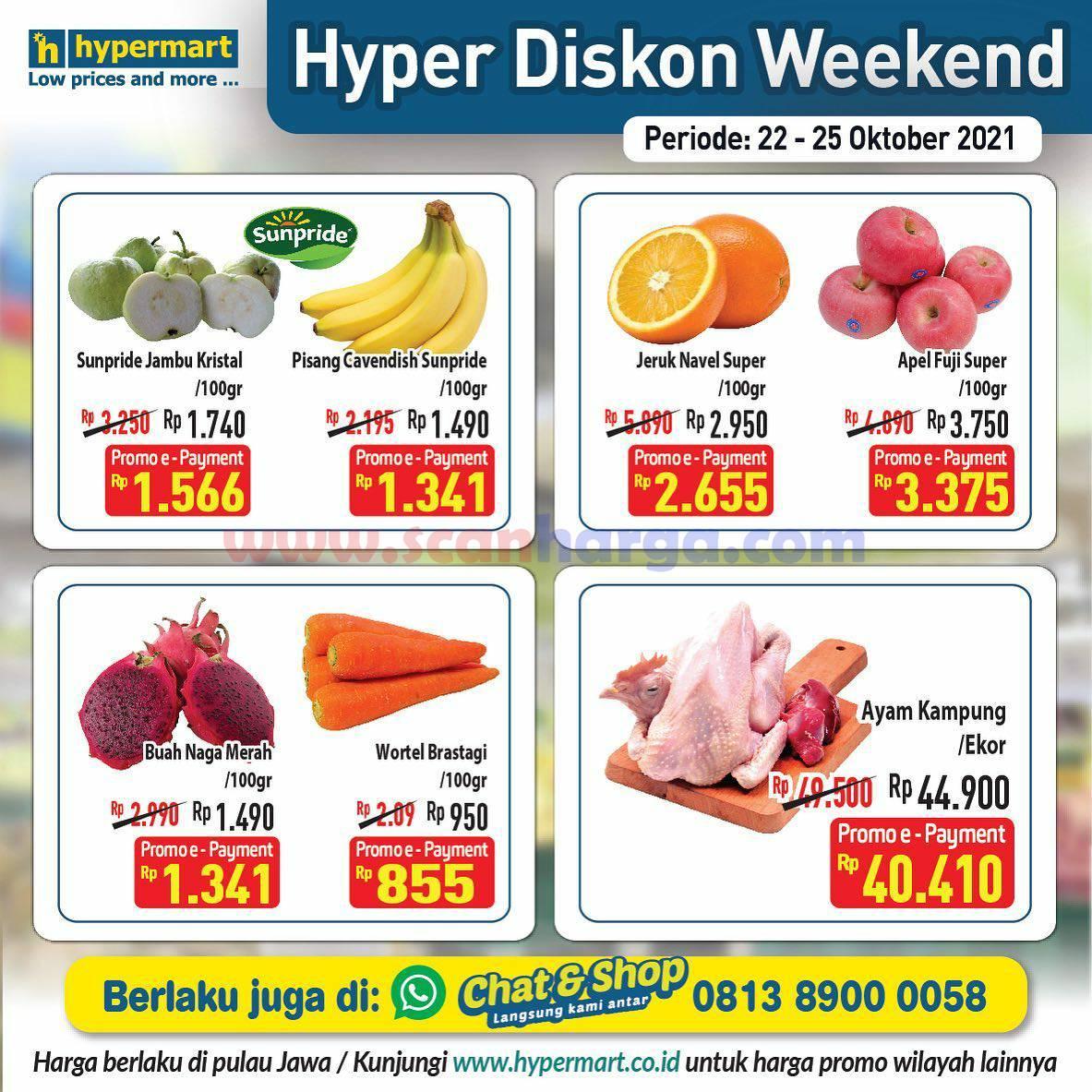 Promo Hypermart Weekend Terbaru 22 - 25 Oktober 2021 2