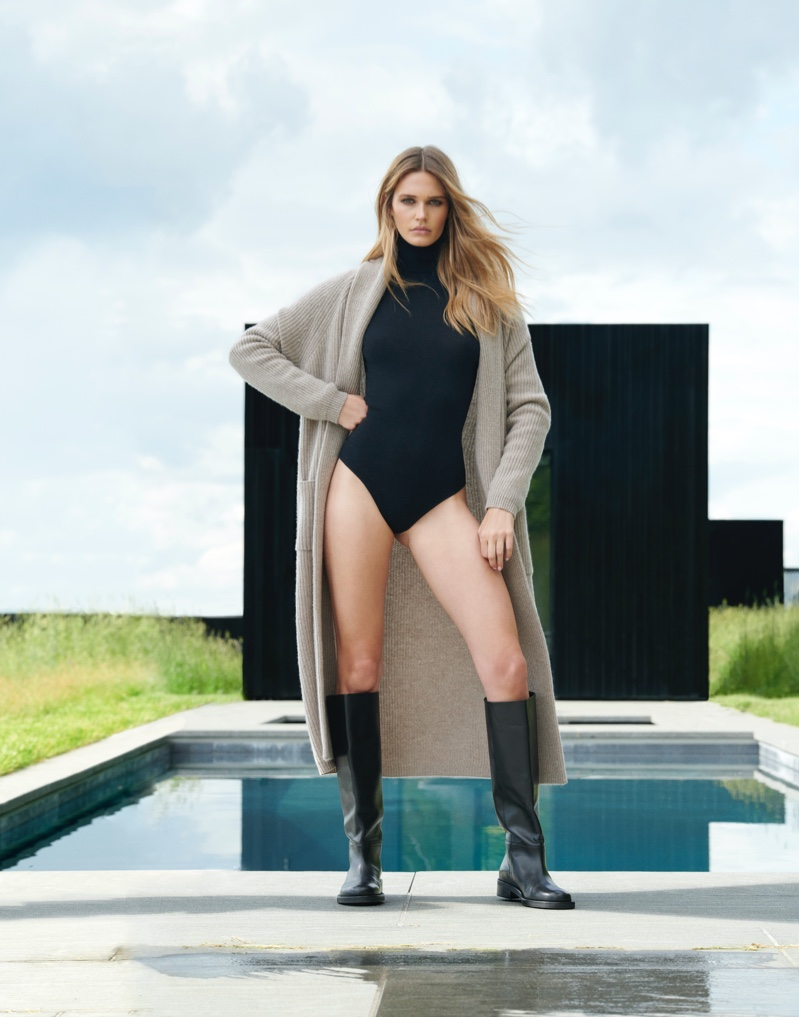 Noel Berry stars in NAKEDCASHMERE NAKED in October 2021 campaign