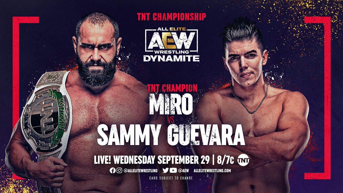 Cobertura: AEW Dynamite (29/09/2021) – Davi e Golias!