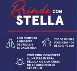 Cadastrar Um Brinde Com Stella Promoção 2021 Viagem Bélgica e Vouchers